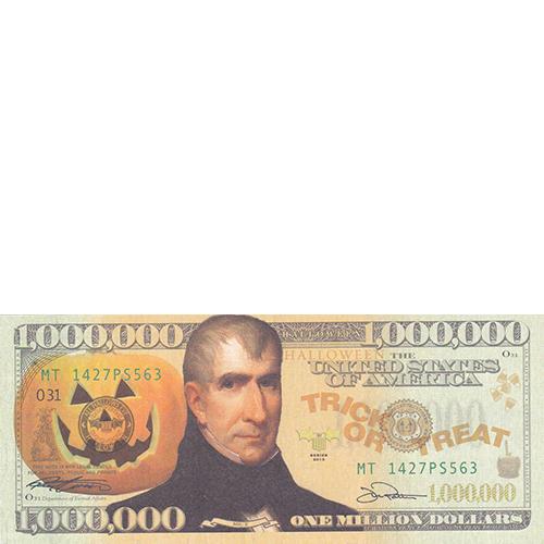 Halloween Million Dollar Bill Tract