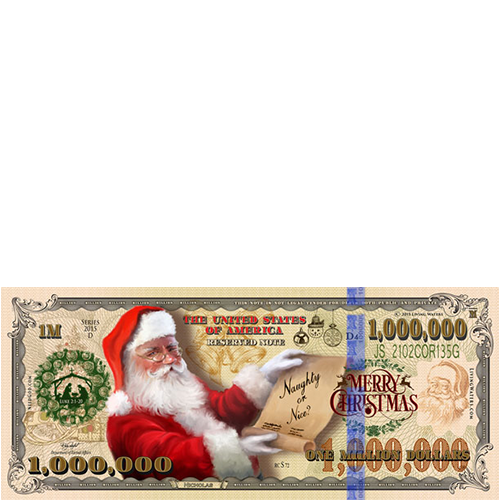 Christmas Million Dollar Bill Tract