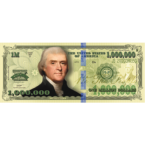 Billete de Un Millón de Dólares Tract (Spanish) (100 Pack)
