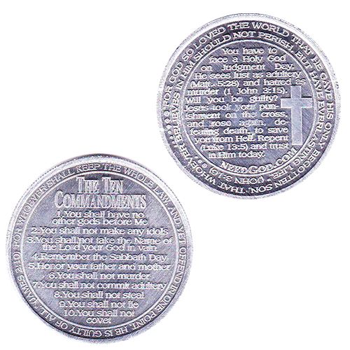 Ten Commandment Coins Tract