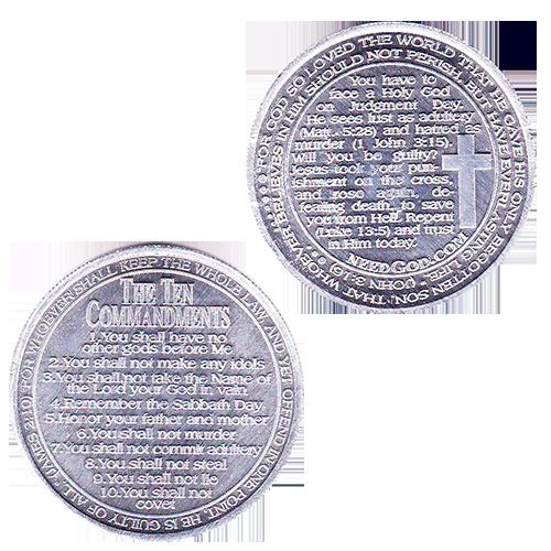 Ten Commandment Coins Tract