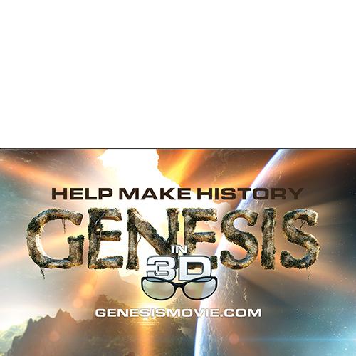 Genesis 3D Movie Promotional Card