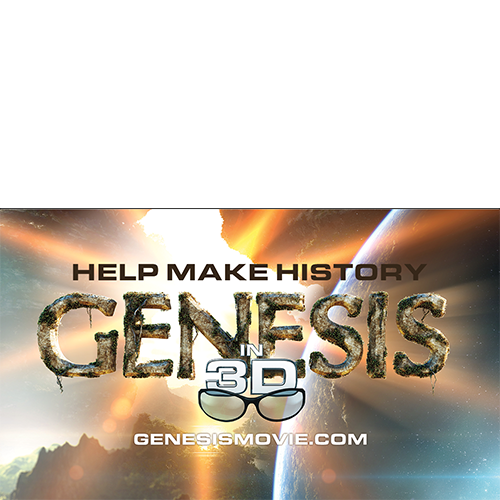 Genesis 3D Movie Promotional Card