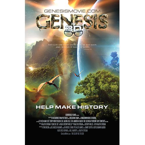 Genesis 3D Movie Promotional Flyer
