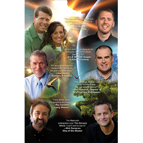 Genesis 3D Movie Promotional Flyer back