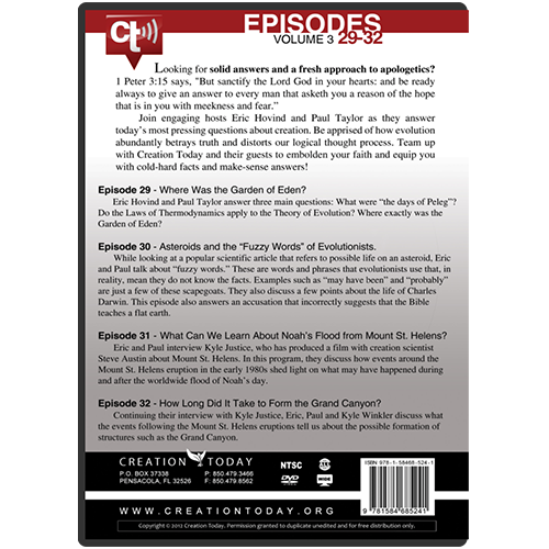 The Creation Today Show: Vol 3, Episodes 29-32 back