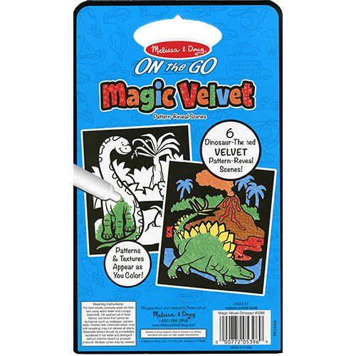 Magic Velvet Dinosaur Scenes – ON the GO Travel Activity back