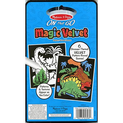 Magic Velvet Dinosaur Scenes – ON the GO Travel Activity back