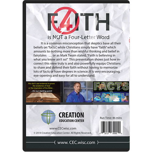 Faith is Not a Four-Letter Word DVD back