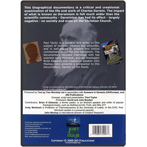 Darwin and Darwinism: 200 Lost Years DVD back