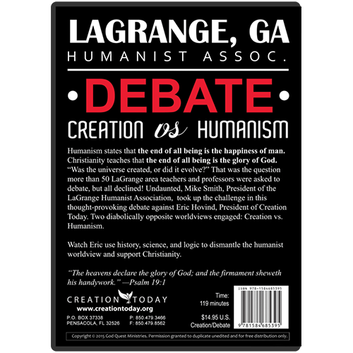 LaGrange, GA Humanist Assoc. Debate: Creation vs Humanism b