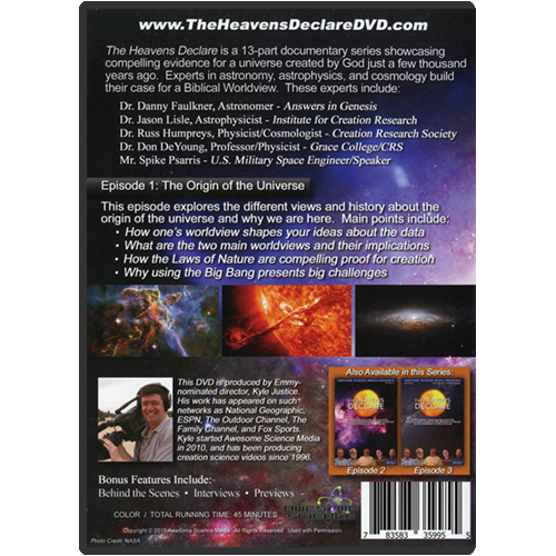 The Heavens Declare: Episode 1 Origin of the Universe back