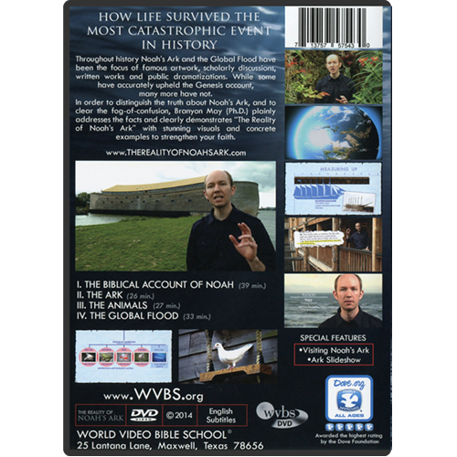 The Reality of Noah's Ark DVD (Collector's Edition) back
