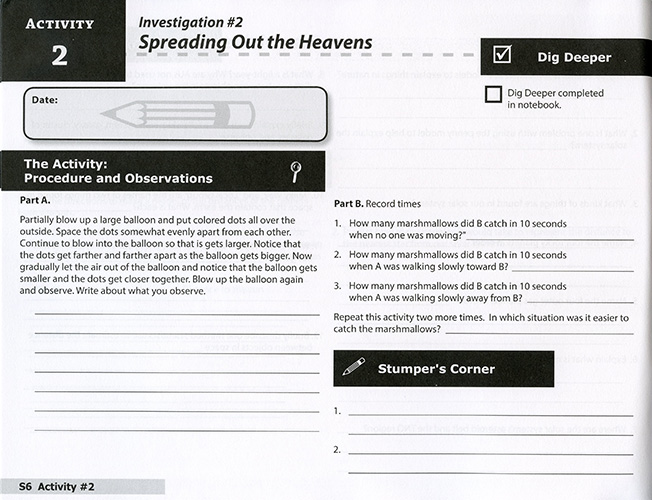 The Universe: From Comets to Constellations Student Journal read inside
