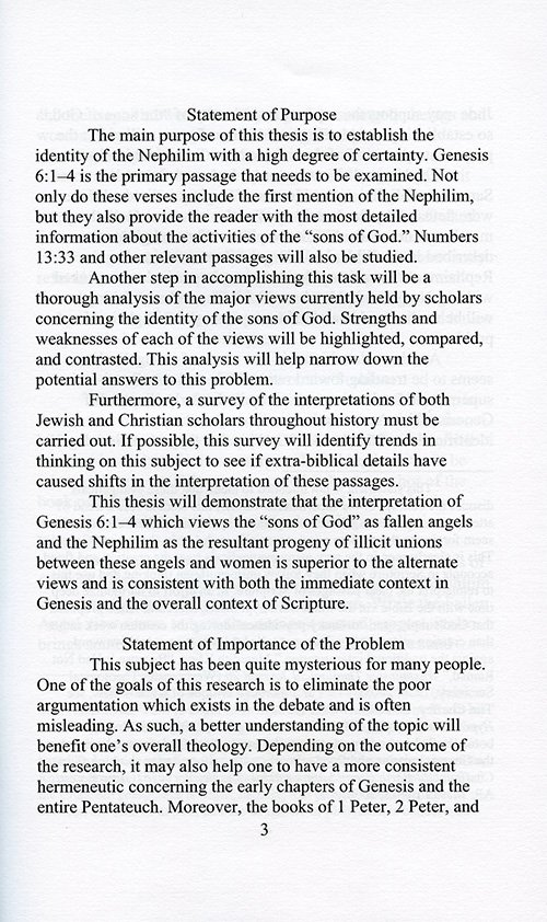 The Sons of God and the Nephilim read inside