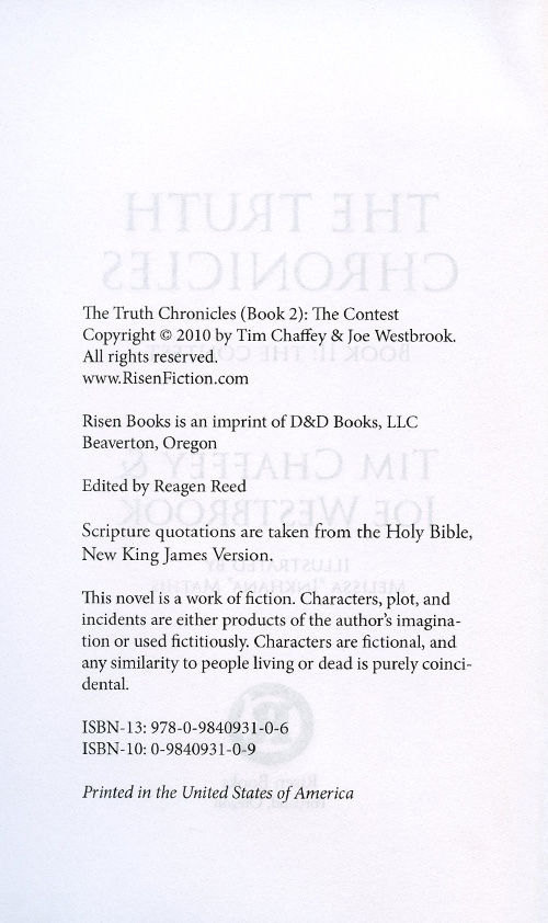 The Truth Chronicles Book 2: The Contest read inside