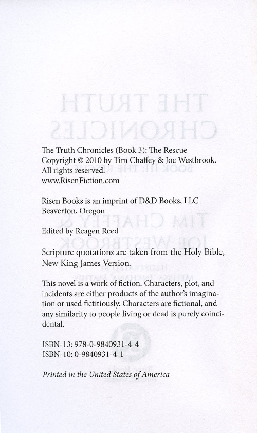 The Truth Chronicles Book 3: The Rescue read inside