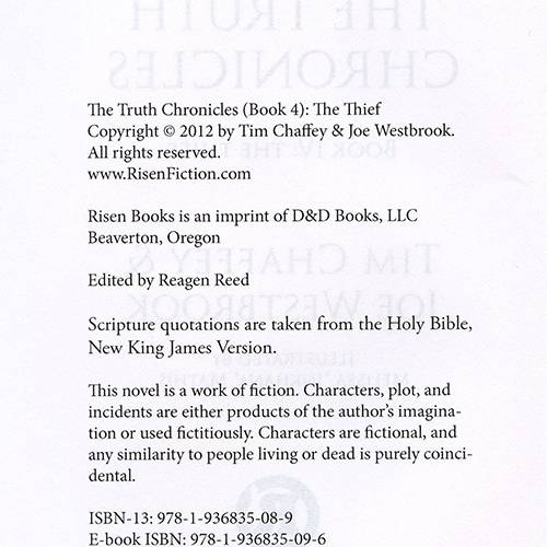 The Truth Chronicles Book 4: The Thief read inside