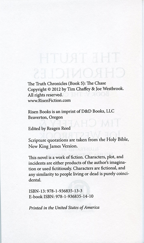 The Truth Chronicles Book 5: The Chase read inside