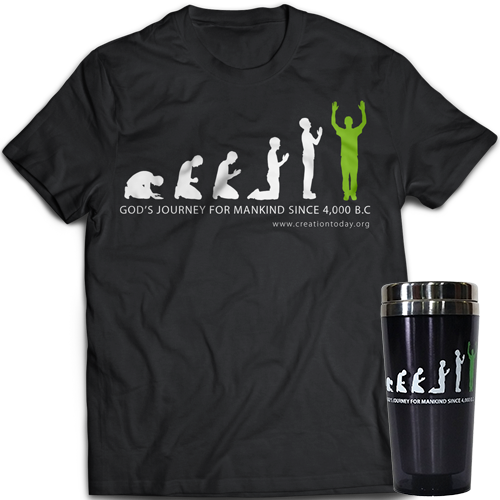 God's Journey for Mankind Travel Mug and T-Shirt Package