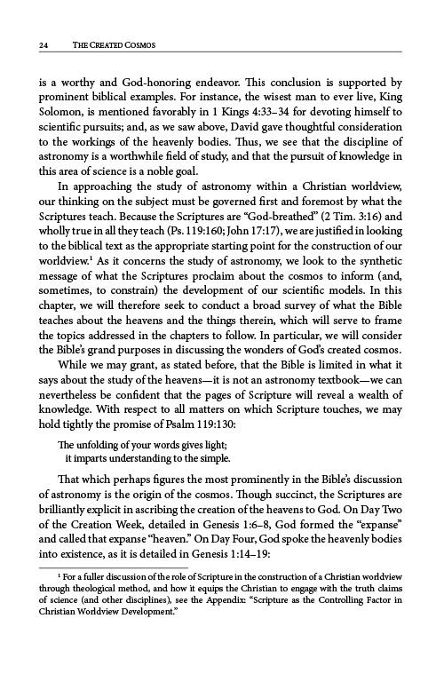The Created Cosmos eBook (MOBI, PDF) inside