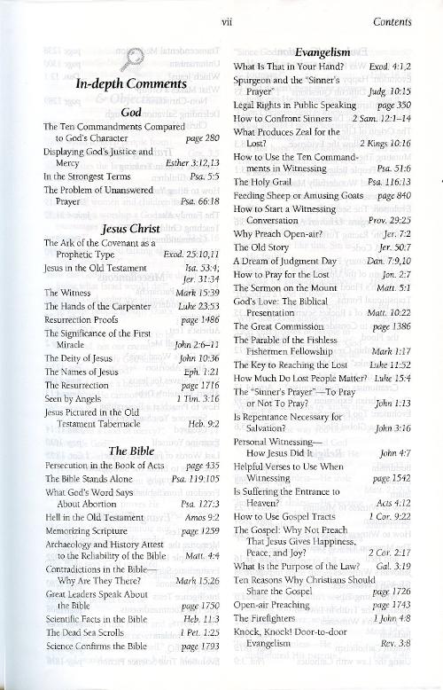 The Evidence Bible (Hardback) inside