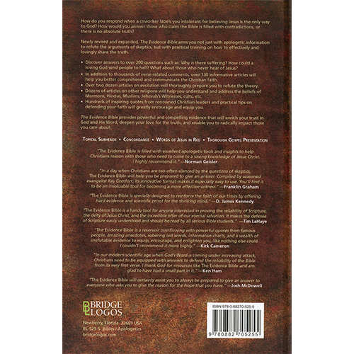 The Evidence Bible (Hardback) back