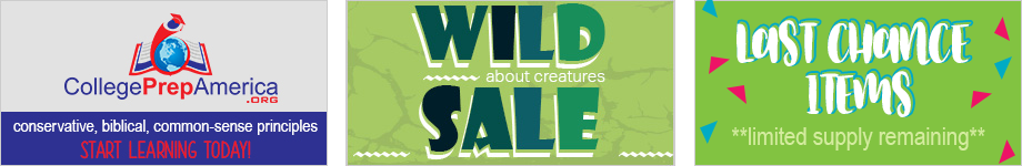 College Prep America, Wild about creatures SALE, LAST CHANCE ITEMS