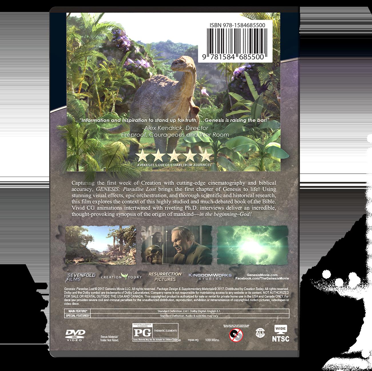 Genesis: Paradise Lost DVD Back