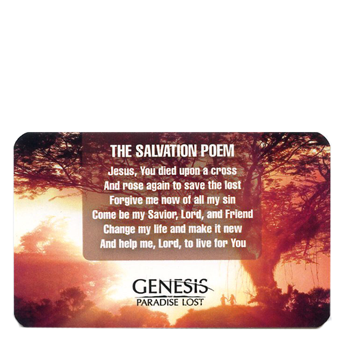 The Salvation Poem Card Tract Pack (50 Cards)