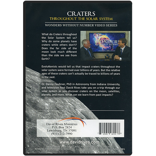 Wonders Without Number: Craters DVD back