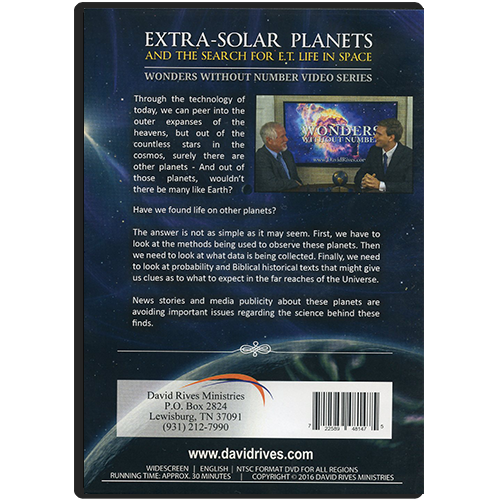 Wonders Without Number: Extra-Solar Planets DVD back