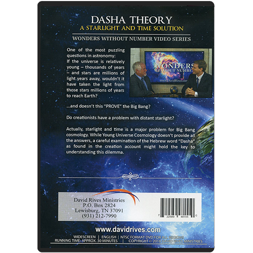 Wonders Without Number: Dasha Theory DVD back