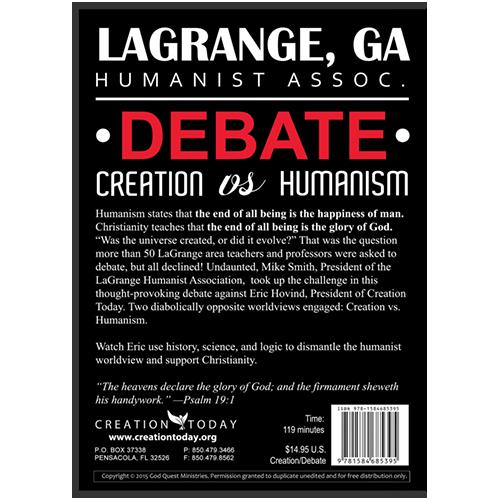 LaGrange, GA Humanist Assoc. Debate: Creation vs Humanism
