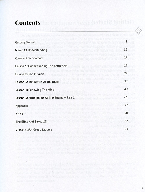 Conquer Series Study Guide Volume 1 inside