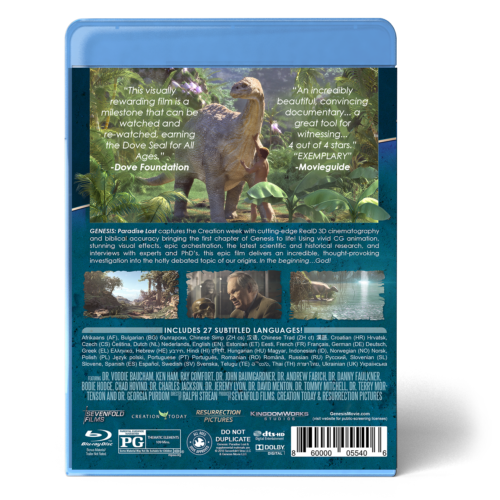 GENESIS: Paradise Lost Blu-ray Combo Pack back