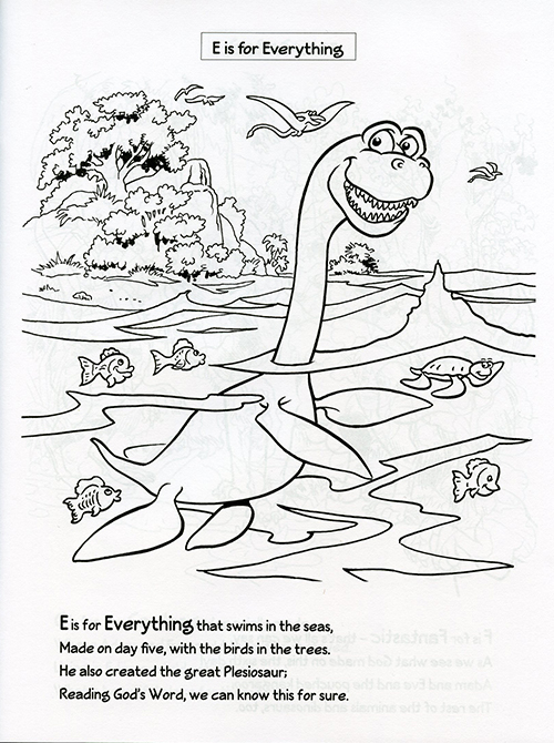 D is for Dinosaur Coloring Book inside