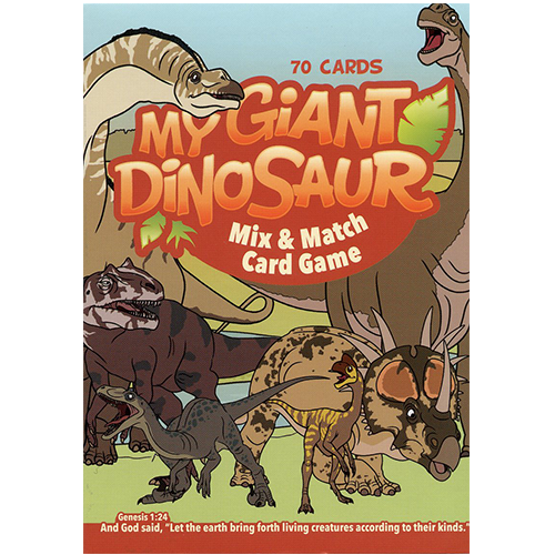 My Giant Dinosaur Mix & Match Card Game