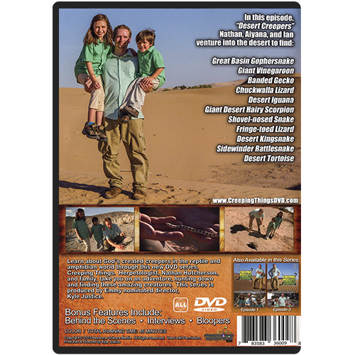 Creeping Things Episode 2: Desert Creepers DVD back