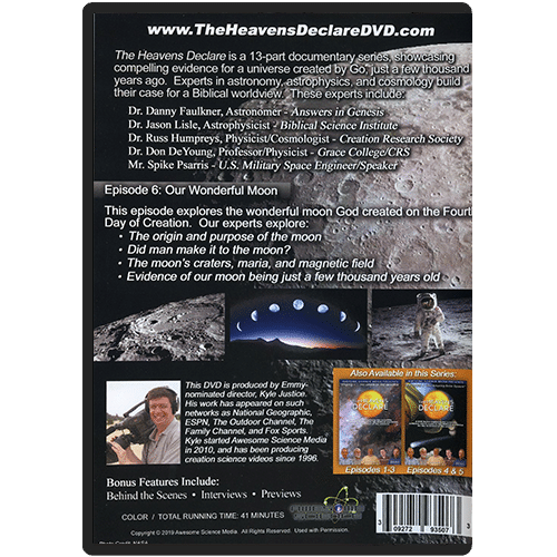 The Heavens Declare: Episode 6 Our Wonderful Moon DVD back