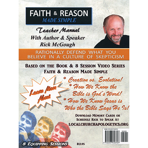 Faith & Reason Made Simple Teacher Guide back