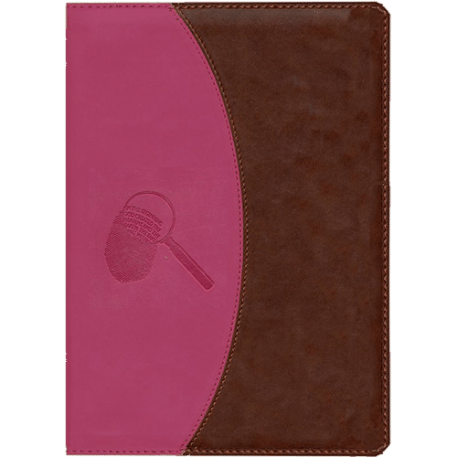 The Evidence Bible (Pink & Brown Leather) Cover